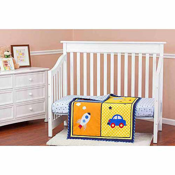 Dream On Me On The Go 3 Piece Reversible Crib Bedding Set