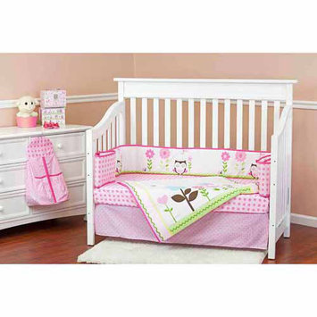 Dream On Me Baby Owl 5 Piece Reversible Crib Bedding Set