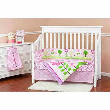 Dream On Me Spring Garden 5 Piece Reversible Crib Bedding Set