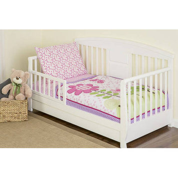 Dream On Me Spring Garden 4 Piece Toddler Bedding Set