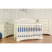 Dream On Me Adora Curve Top Convertible Crib - White