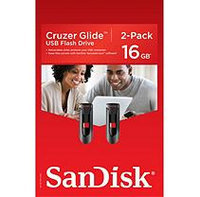 SanDisk Cruzer 16GB USB Flash Drive SDCZ60-016G, 2 Pk