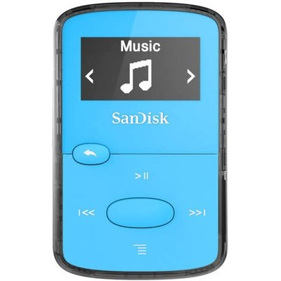Sandisk Sdmx26-008g-g46b 8GB Flash Mp3 Player - Blue - Fm Tuner - Battery Built-in - Microsd Card - Aac, Mp3, Wma, Wav, Ogg Vorbis, Audible, Flac - 18 Hour (sdmx26-008g-g46b)