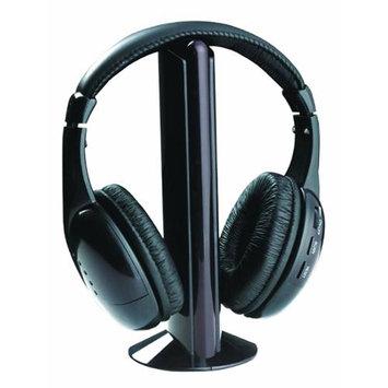 DGL WH-1005 Wireless 5 in 1 Monitoring Headphones w/ FM Radio (Black)