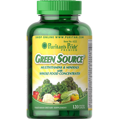 Puritan's Pride 2 Units of Green Source Multivitamin & Minerals