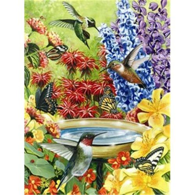 Cobble Hill Puzzle Company Outset Media Games OM52032 HumBird Garden Puzzle 500 pcs