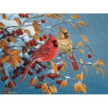 Outset Media Winter Cardinals 500 Piece Puzzle