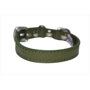 Thierry Mugler Angel Pet Supplies 40984 Alpine Plain Dog Collar in Olive Green