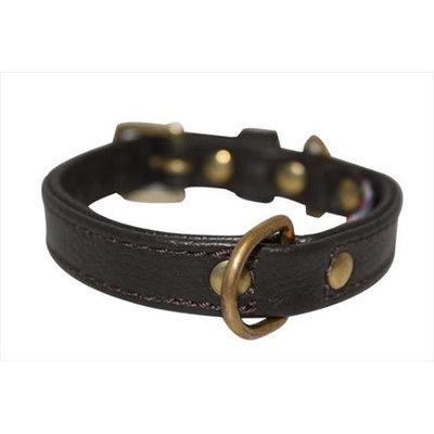 Thierry Mugler Angel Pet Supplies 40991 Alpine Plain Dog Collar in Chocolate Brown