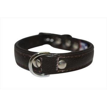 Thierry Mugler Angel Pet Supplies 41001 Alpine Plain Dog Collar in Chocolate Brown