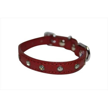 Thierry Mugler Angel Pet Supplies 41073 Athens Rhinestone Dog Collar in Valentine Red