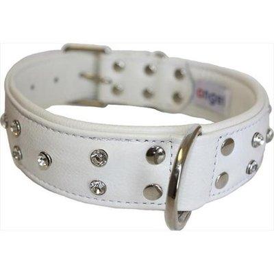 Thierry Mugler Angel Pet Supplies 41164 Athens Rhinestone Dog Collar in Ivory White