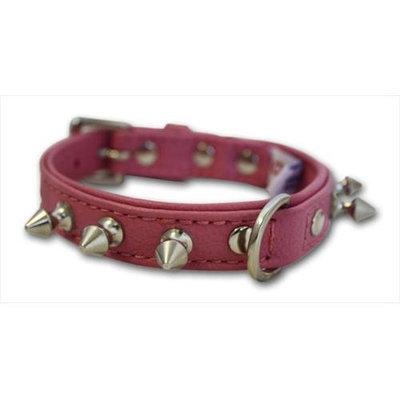Thierry Mugler Angel Pet Supplies 41211 Rotterdam Spiked Dog Collar in Bubblegum Pink