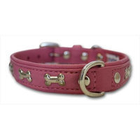 Thierry Mugler Angel Pet Supplies 41292 Rotterdam Bones Dog Collar in Bubblegum Pink