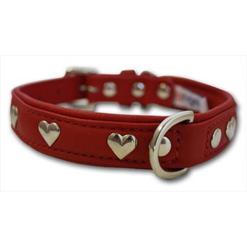 Thierry Mugler Angel Pet Supplies 41352 Rotterdam Hearts Dog Collar in Valentine Red