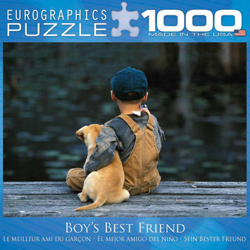 Eurographics Boy's Best Friend 1000 Piece Puzzle