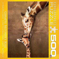 Euro Graphics 8500-0301 Giraffe Mothers Kiss 500-Piece Puzzle