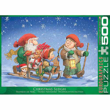 Euro Graphics 6500-0353 Christmas Sleigh 500-Piece Puzzle