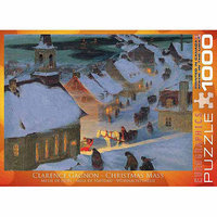 Euro Graphics 6000-7184 Christmas Mass by Clarence Gagnon 1000-Piece Puzzle