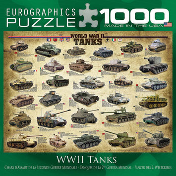 Eurographics World War II Tanks 1000 Piece Puzzle