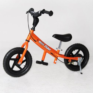 Glide Bikes Inc Glide Bikes Mini Glider Kids Balance Training Bike With 12 Durable Tires, Adjustable Seat And Handle Bar - Orange