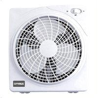 Optimus 10 Inch White Box Style 2 Speed Fan