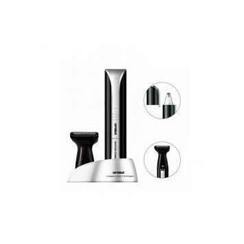 Optimus 50003 Personal Grooming System with Rotary Blades and Trimmer Head Attachment#44; Blacksilver