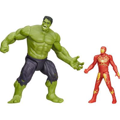 Hasbro Marvel Avengers Age of Ultron Savage Hulk vs. Ultron Hunter Iron Man