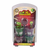 Perfect Pod Eco-Fill Refillable Capsule with Permanent Mesh Filter For Keurig, 4-Pack