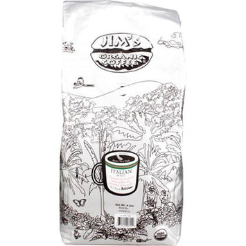 Jim's Organic Coffee Italian Roast Very Dark Whole Bean - 4 lbs