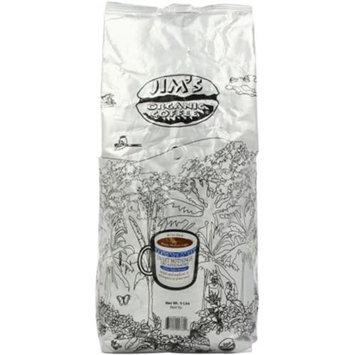 Jim's Organic Coffee Medium Light Roast Decaffeinated Whole Bean Sweet Nothing 5 lbs