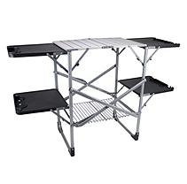 Slim-fold Cooking Station Portable Camping Table/Station