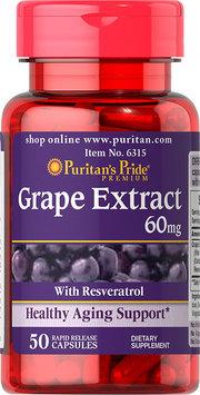 Puritan's Pride 2 Units of Resveratrol/Grape Extract 60 mg-50-Capsules