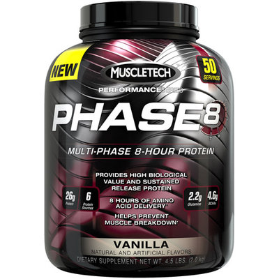 Muscletech Products - Phase8 Performance Series Multi-Phase 8-Hour Protein Vanilla - 4.6 lbs.