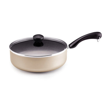 Meyer Corporation Us-farberware Division Farberware Dishwasher Safe Nonstick 10-1/2-Inch Covered Deep Fry Pan Champagne