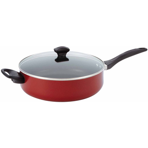 Meyer Corp. Farberware Nonstick Champange 5-Quart Covered Jumbo Cooker with Helper Handles