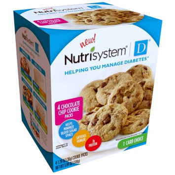 Nutrisystem D Chocolate Chip Cookie Packs, 4 count