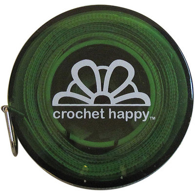 K1C2 CH652-GR Crochet Happy Tape Measure-Green