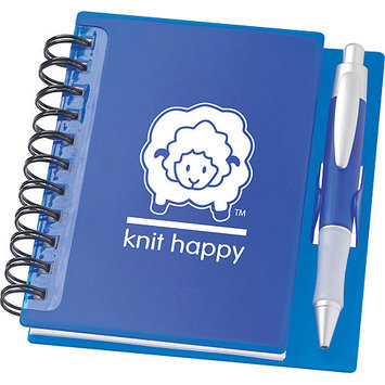 K1C2 KH345-OR Knit Happy Idea Notebook 6.25X5.75-Orange
