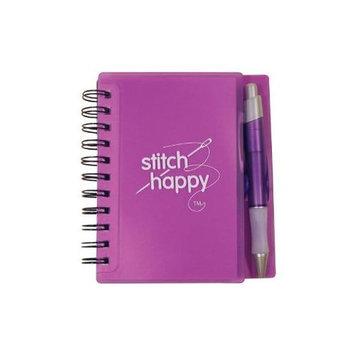 K1C2 ST354-PU Stitch Happy Idea Notebook & Pen Desk Set-Purple