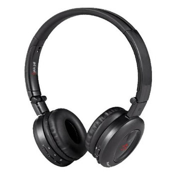 Sykik Headset - Stereo - Black - Wireless - Bluetooth - 32.8 ft - 32 Ohm - 20 Hz - 20 kHz - Over-the-head - Binaural - 82 dB SNR - Circumaural