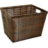 Simplify Horizontal Weave Rattan Storage Basket - Small