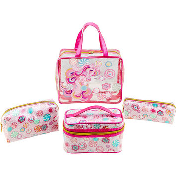 Essentials Pampered Girls Candee 4-pc. Cosmetic Bag Set