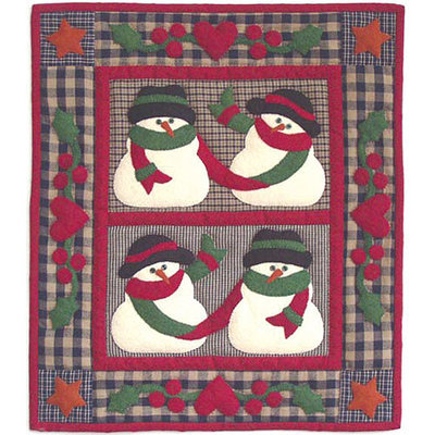 Rachels Of Greenfield Snow Frnds-Wallhanging Qult Kit