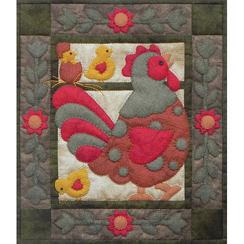 Rachels Of Greenfield Spotty Rooster Wall Quilt Kit-13