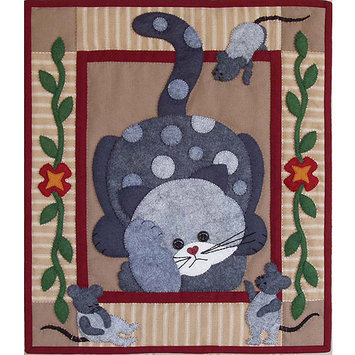 Rachels Of Greenfield Spotty Cat Quilt Kit - RACHEL'S OF GREENFIELD