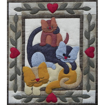 Rachels Of Greenfield Cat Stack Wall Quilt Kit-13