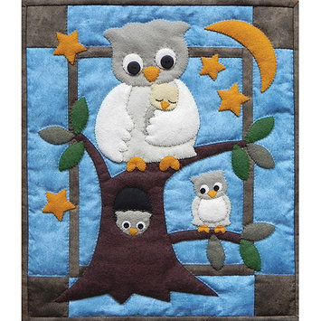 Eziba Owl Family Wall Hanging Quilt Kit-13X15