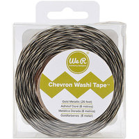 We R Memory Keepers We R Chevron Metallic Washi Tape 26 Feet-Silver