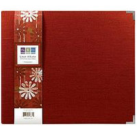 We R Memory Keepers Linen Postbound 12X12 Album-Pomegranate
